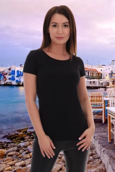 Базовая черная футболка Натали